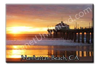 Manhattan Beach California CA Souvenir Fridge Magnet