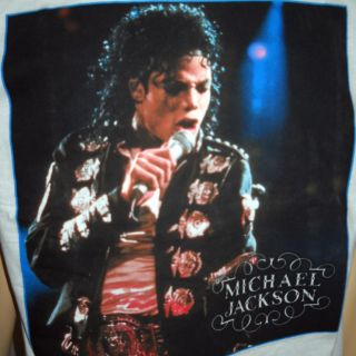 Young Michael Jackson White T Shirt