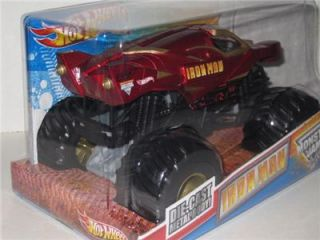 Mattel Hot Wheels Monster Jam Iron Man 1 24 Scale Diecast Monster