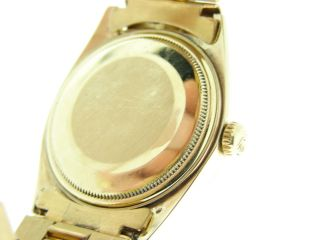 Mens Rolex Solid 18K Yellow Gold Datejust w Gold Plated President