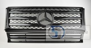Mercedes G Class W463 Grille Grill G500 G55 90 08 AMG All Black