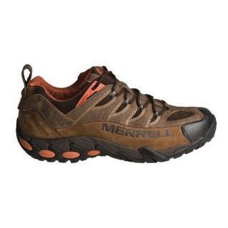 Merrell Mens Refuge Pro Brown Leather Walking Trainers Shoes Sizes UK