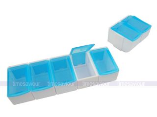 Large Detachable Pill Box Case Container Medicine Vitamins Supplements