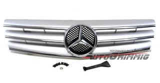 Front Grille Grill for Mercedes Benz 90 02 SL Class W129 R129 Silver