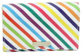 Kate Spade Live Colorfully Patent Darla French Wallet Multi New