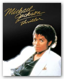 Art Poster Michael Jackson Thriller Album Cover