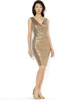 Lauren Ralph Lauren Dress, Sleeveless Sequin