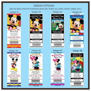 Mickey Mouse Minnie Baby Birthday Party Invitations