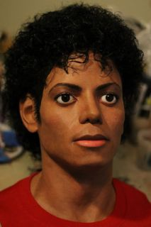 Lifesize Custom Michael Jackson Thriller Bust Hot Toys Life Mask
