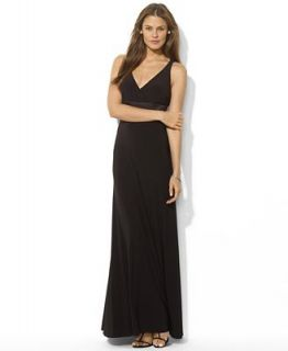 Lauren Ralph Lauren Dress, Sleeveless Halter Gown