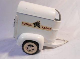 Vintage 1959 Farm Stake and Horse Trailer with Box Good Condistion