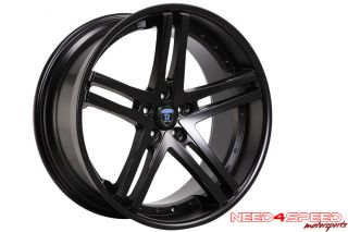 CHARGER R/T SE SXT SRT8 ROHANA RC5 CONCAVE MATTE BLACK WHEELS RIMS