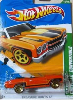 2012 Hot Wheels T Hunt 70 Chevy Chevelle Convertible