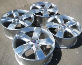 2010 2011 20 Factory Jeep Grand Cherokee Wheels Rims Polished Set of