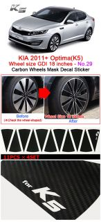 Kia 2011 Optima K5 Carbon Wheels Mask Decal Sticker GDI 18inches No 29
