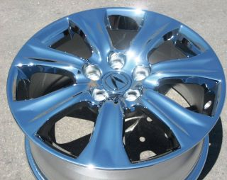 YOUR STOCK 4 NEW 18 FACTORY ACURA RL OEM CHROME WHEELS RIMS 2009 12