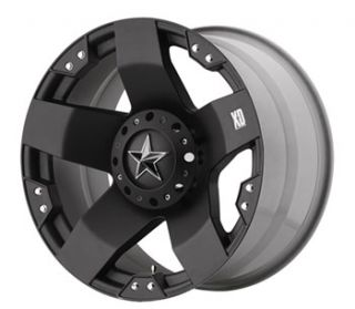 17 inch Black Wheels Rims KMC XD 775 Rockstar Jeep Wrangler 2007 2013