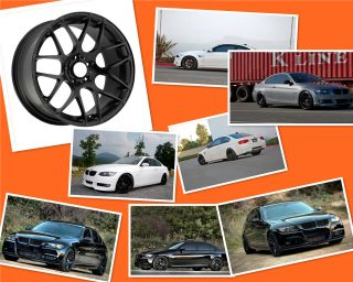 19 Staggered Black Rims Wheels BMW E46 E9X E92 E93 M3