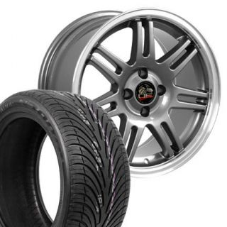 17 9 10 Gunmetal 10th Anniversary Wheels Nexen Tires Rims Fit Mustang