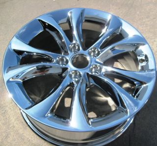 NEW 2012 17 FACTORY HYUNDAI GENESIS OEM CHROME WHEELS RIMS EXCHANGE