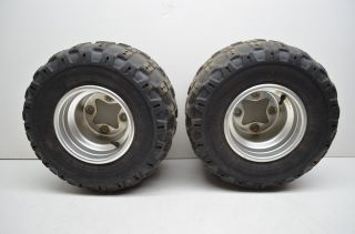 08 Suzuki LTR450 Rear Wheel Rims 18 Dunlop Tires Quadracer Lt R450