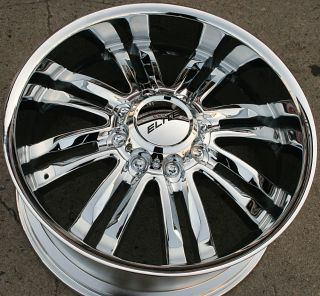 PHASE 8 22 CHROME RIMS WHEELS HUMMER H2 8H 00 10 / 22 X 9.5 8H +10