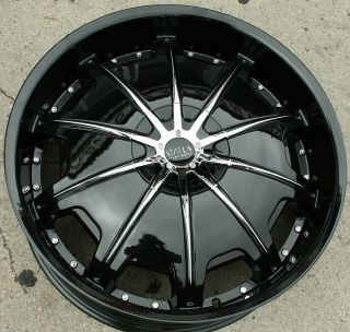 Status Opus 22 Black Rims Wheels Ford Ranger 22 x 9 0 5H 15