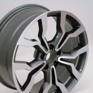 18 Machined Gunmetal R8 Style Replica Wheel Fits Audi A4 A6 A8