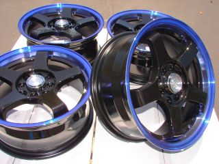 Blue Effect Wheels Lancer Accord Jetta Scion XA XB Golf CL Rims