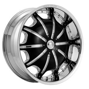 26 inch Rims and Tires Wheels Rockstarr 557 Chrome Black Ford Edge 24
