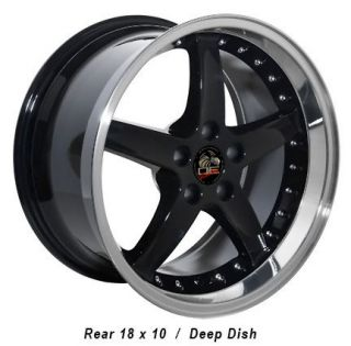 18 9 10 Black Cobra Wheels Nitto Tires Rims Fit Mustang® 05 Up