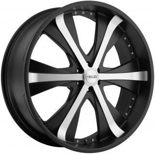 20 Black Helo Wheels Rim Chevy Traverse Buick Enclave GMC Acadia