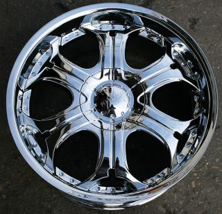 Akuza Spur 504 22 Chrome Rims Wheels Lincoln Navigator