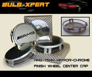 4X Mercedes Benz Chrome Mirror AMG Wheel Center Caps