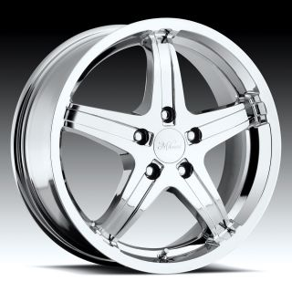 Chrome Milanni Kool Whip 5 Lug Wheels Rims Dodge Toyota Pontiac