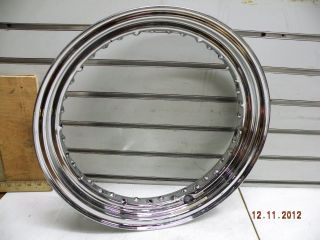 Chrome 40 Spoke Wheel Rim Harley Softail Sportster Dyna 97 Up 43085 97