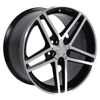 18x10 5 Set of 2 Black Corvette C6 Wheels Rims Fit Camaro SS Firebird