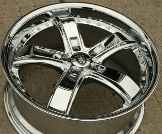 VON MAX VM07 20 CHROME RIMS WHEELS LEXUS ES300 GS300 SC300 / 20 X 8.5