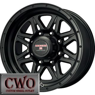16 Black Level 8 Strike 8 Wheels Rims 8x165 1 8 Lug Chevy GMC Dodge