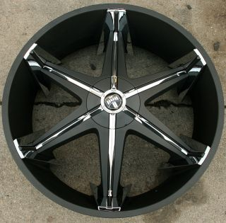 Dub Shooz S147 28 Black Rims Wheels Caprice 5x5 28 x 10 5H 10