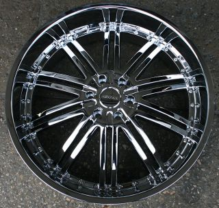 Menzari Z08 26 Chrome Rims Wheels Cadillac Escalade 07 Up 26 x 10 6H