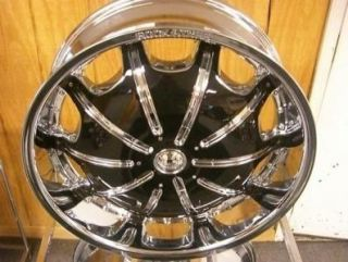 Rims and Tires Wheels Rockstarr 557 Chrome Black Nissan QX56 22 24 28