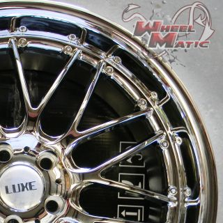 20 Staggered Chrome Luxe LX4 Rims Wheels