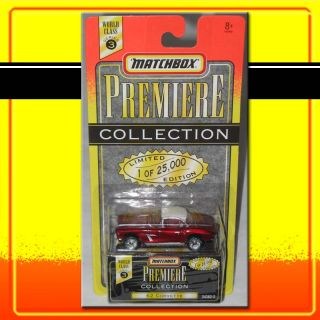 Matchbox World Class Series 3 62 Corvette Deep Red Rubber Tires