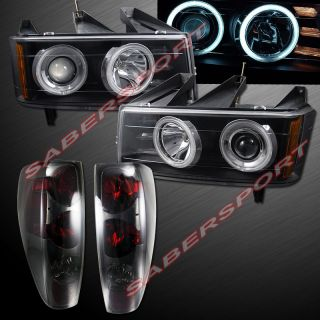2004 2012 Chevy Colorado GMC Canyon CCFL Halo Projector Headlights