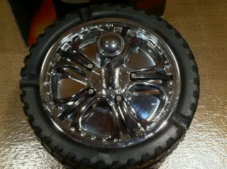 Custom Wheel Rim w Tire Spinning Ashtray Man Cave Poker Table Home