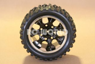 SET OF 4 RUBBER WHEELS + RIMS PACKAGE