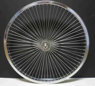Cruiser BMX Bike 26x 1 75 Front Rims 68 Spokes Wheels Chrome
