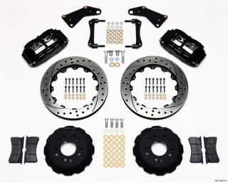 Wilwood Disc Brake Kit 65 82 Corvette C2 C3 13 Black Calipers Drilled