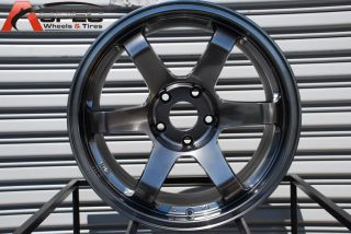 17X9 ROTA GRID 4X100 +20 HYPER BLACK WHEEL FITS CIVIC INTEGRA MIATA